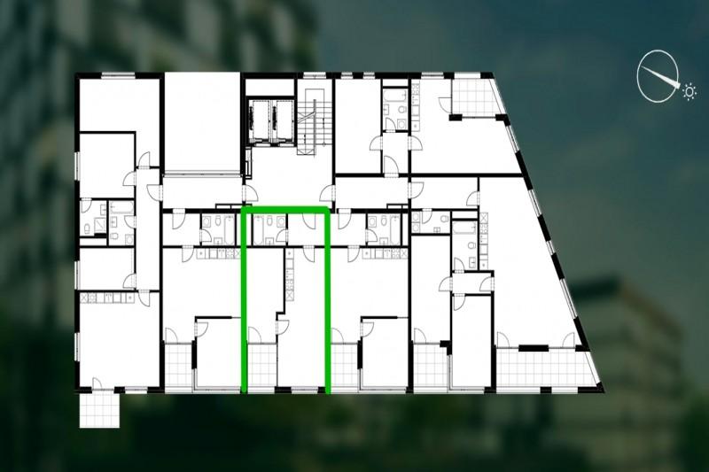 Квартира 2+кк, 50,6м2, Střížkov