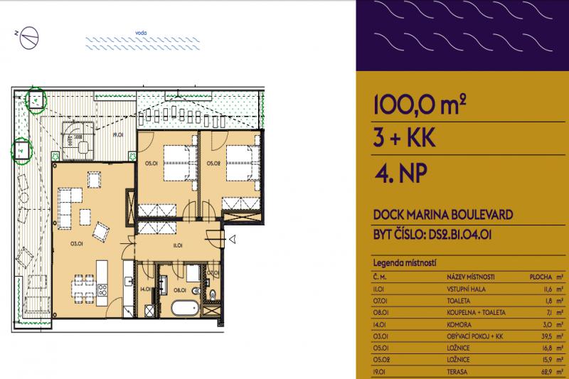 Three-bedroom Apartment 3+kk
