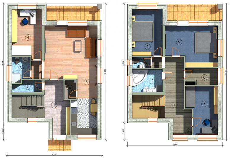 Дом 5+кк, 145 м2, участок 568 м2, Хине