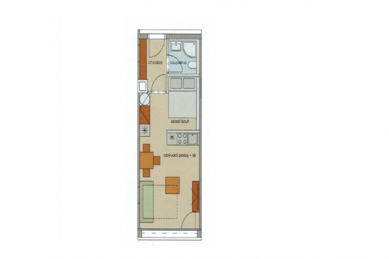 Квартира 1+кк, 32 м2, Anděl