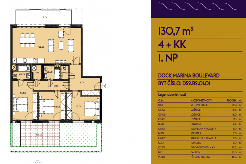 Four-bedroom Apartment 3+kk