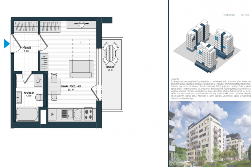 One-bedroom Apartment 1+kk